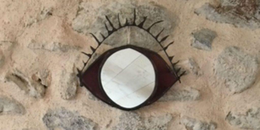 miroir vitrail artisanal oeil