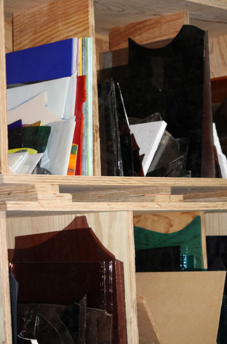 casier de verre verrier vitrail