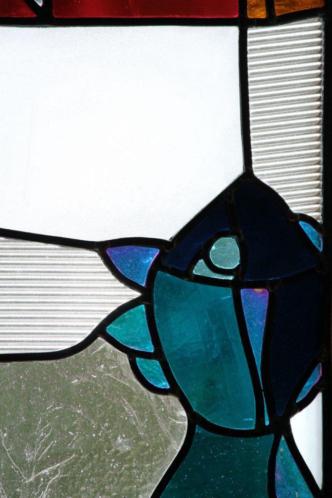 création vitraux sur mesure motif poisson