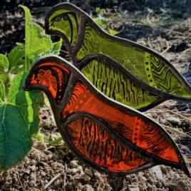 oiseaux vitrail fabrication artisanale