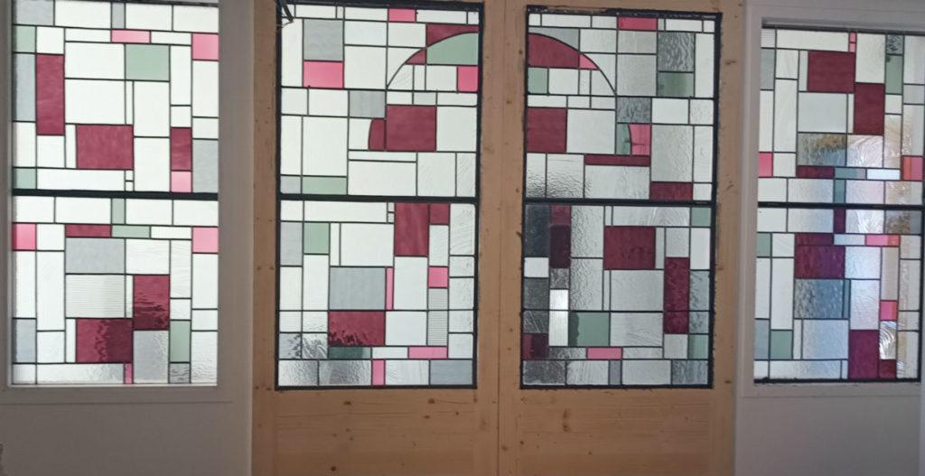 vitrail sur mesure portes coulissantes