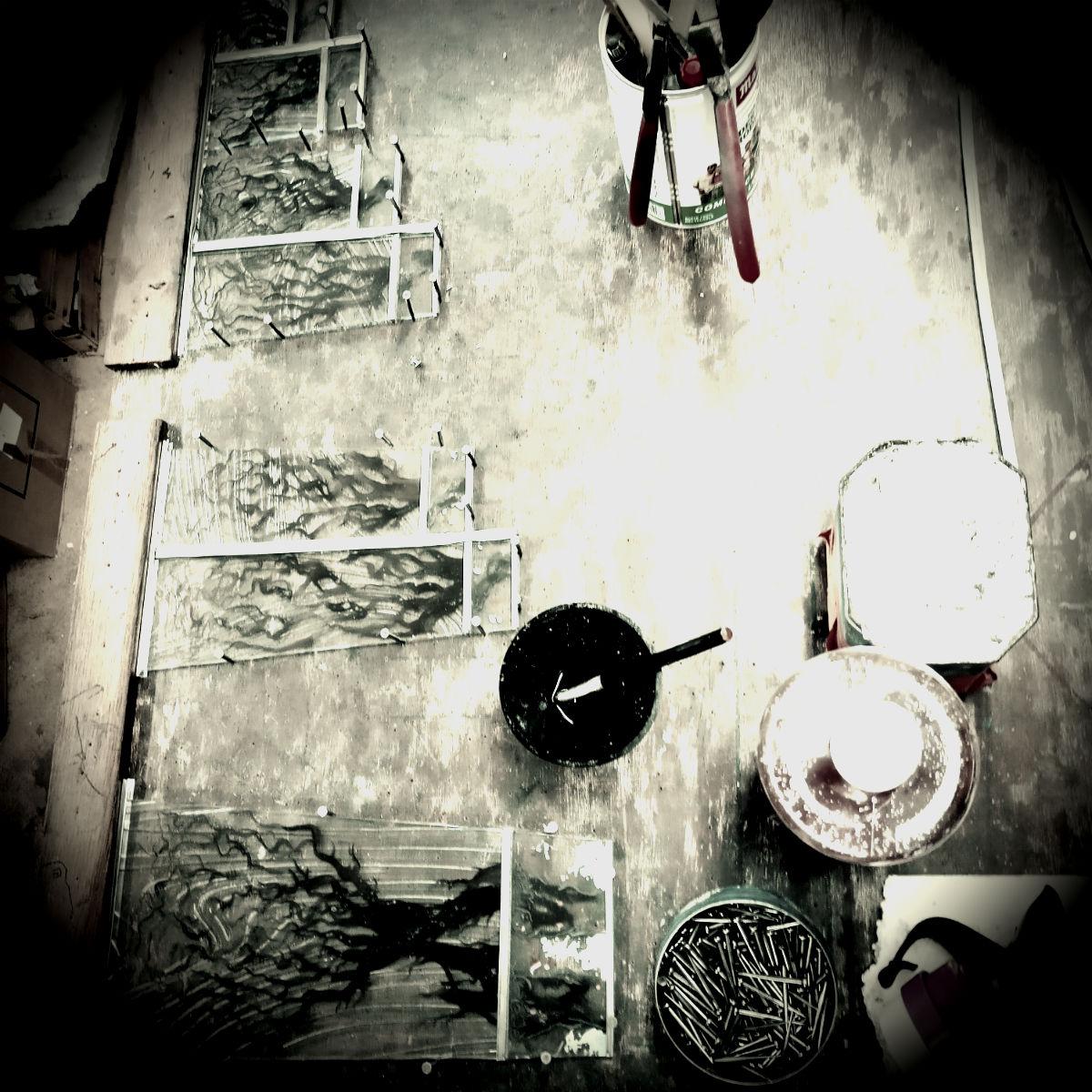 atelier vitrail table de montage