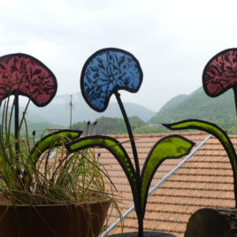 fleurs en verre fabrication artisanale fleur de l'amour fleur eternelle