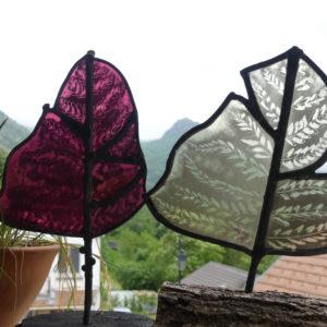 fleurs en verre, fougère artisanale et fait. consommation éthique et durable