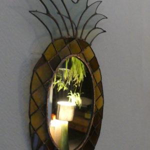 miroir ananas en verre fabrication artisanale fait-main