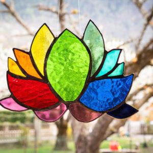 Fleur de lotus en verre
